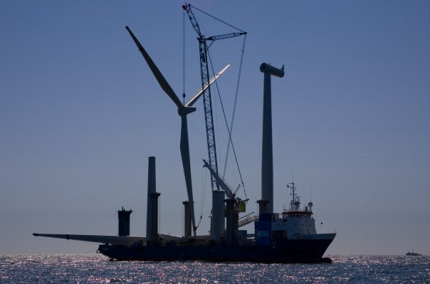 horns reef turbine assembley