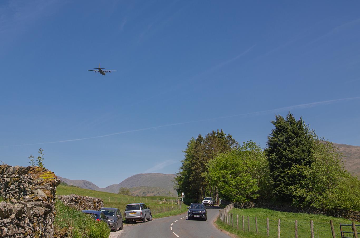 Hercules flying over Kirkstone Pass (1 of 1)